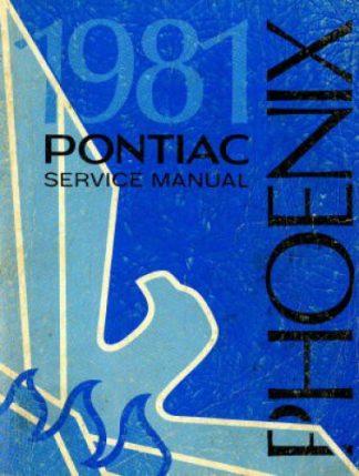 Pontiac Phoenix Service Manual 1981