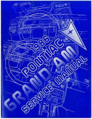 Used 1986 Pontiac Grand Am Factory Service Manual