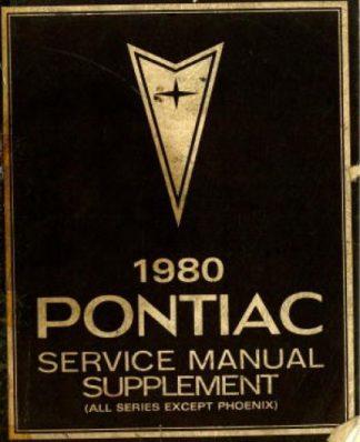 Used 1987 Pontiac 6000 Service Manual