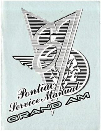 Used 1987 Pontiac Grand Am Factory Service Manual