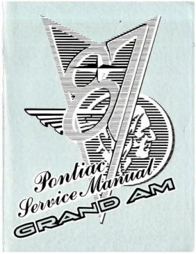 Used 1987 Pontiac Grand Am Factory Service Manual