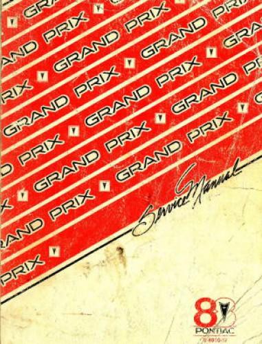 Pontiac Grand Prix Service Manual 1988 Used