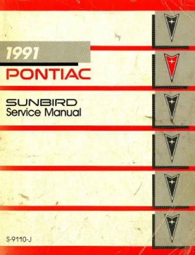 Pontiac Sunbird Service Manual 1991