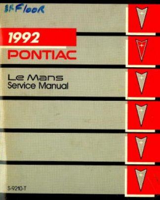 Pontiac Le Mans Service Manual 1992