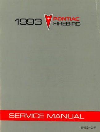 Pontiac Firebird Service Manual 1993
