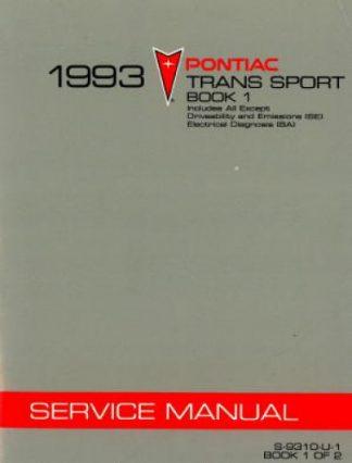 Pontiac Trans Sport Service Manual 1993