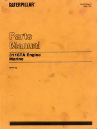Caterpillar 3116TA Marine Engine & Transmission Parts Manual