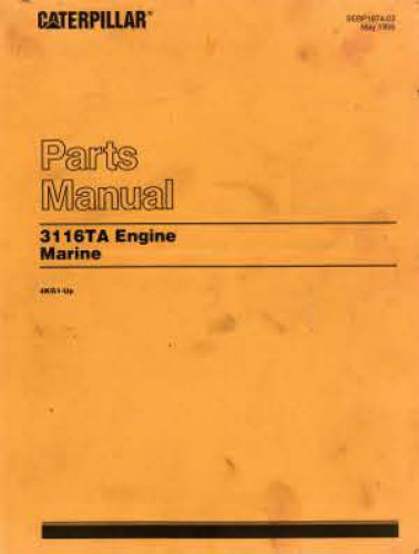 Caterpillar 3116ta Marine Engine  U0026 Transmission Parts Manual