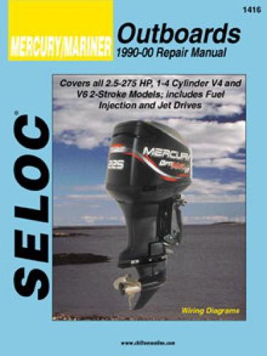 Mercury Mariner Outboard 2-Stroke Boat Engine Repair Manual 1990-2000
