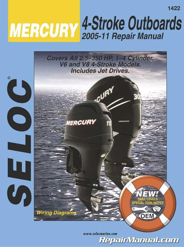 Seloc 2005-2011 Mercury Mariner 2 5-300 HP 4-StrokeEngine Repair Manual