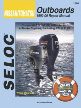 Seloc Nissan Tohatsu 1992-2009 25-140HP All Engines Repair Manual