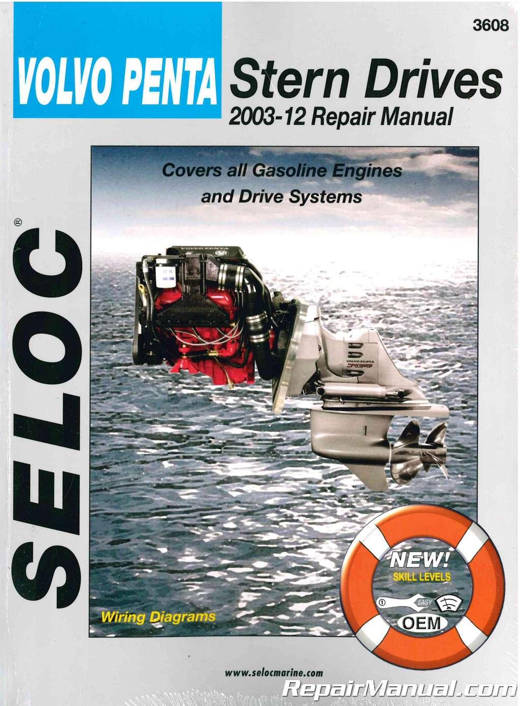 Seloc Volvo Penta Stern Drive 2003-2012 Boat Repair Manual