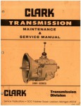 Clark Transmission Maintenance and Service Manual 390V Series Used