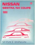 1991 Nissan Sentra NX Coupe Service Manual Used