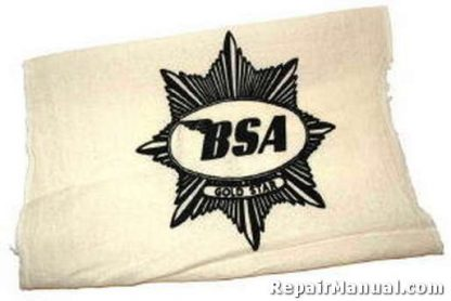 Black BSA Cotton Shop Rag