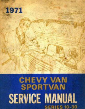 Chevy Van and Sport Van Service Manual 1971 Used