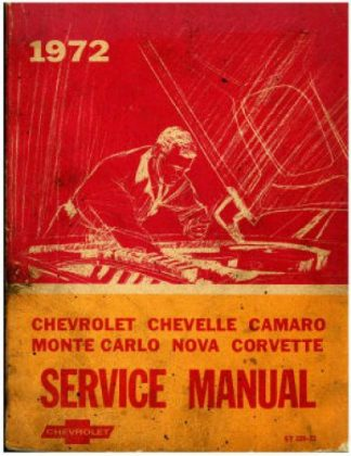 This Used 1972 Chevrolet Service Manual