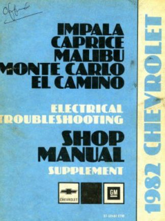 Chevrolet Electrical Troubleshooting Shop Manual Supplement 1982