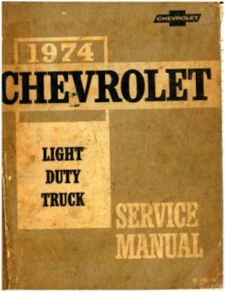 1974 Chevrolet Light Duty Truck Service Manual Used
