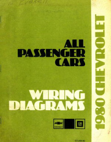 Used 1980 Chevrolet All Passenger Cars Wiring Diagram Manual