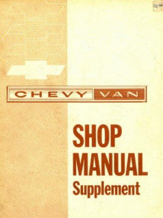 Chevy Van Shop Manual Supplement 1963