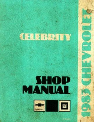 Chevrolet Celebrity Shop Manual 1983 Used