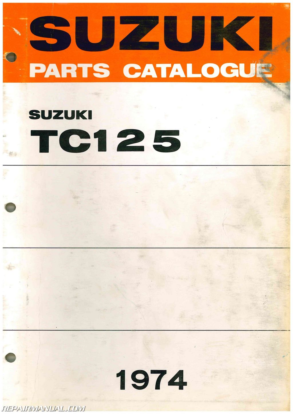 1972-1974 Suzuki TC125 Prospector Parts Manual