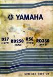 Yamaha 1972 DS7 & R5C, 1973 RD250 & RD350 Service Manual