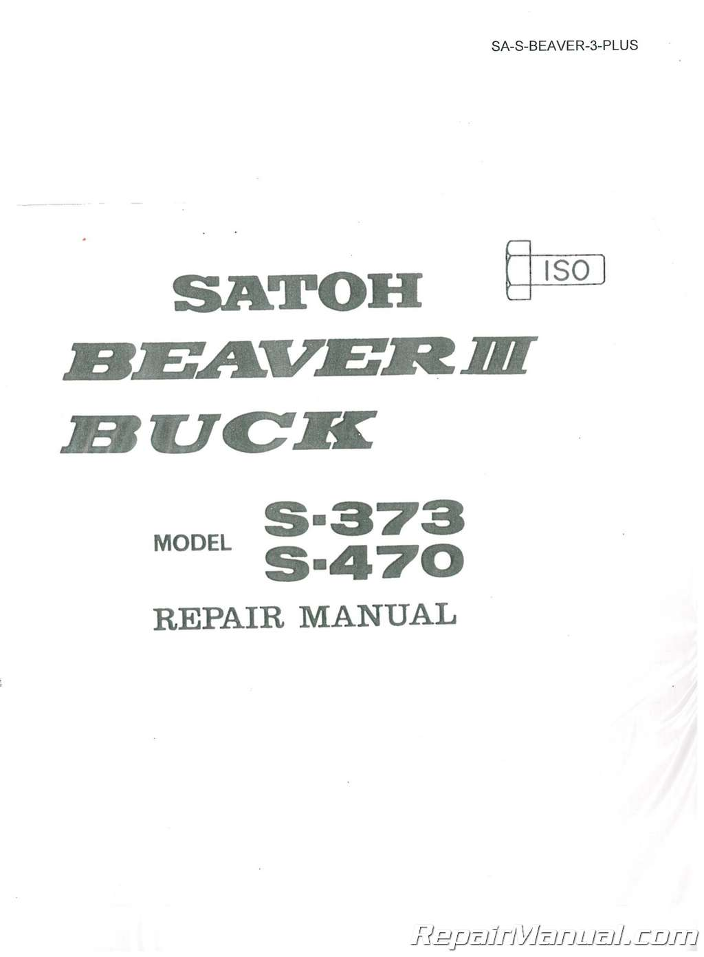 Satoh Beaver Diesel III S373 Buck S470 Tractor Service Manual_001 satoh tractor 4 cylinder engine diagram wiring library