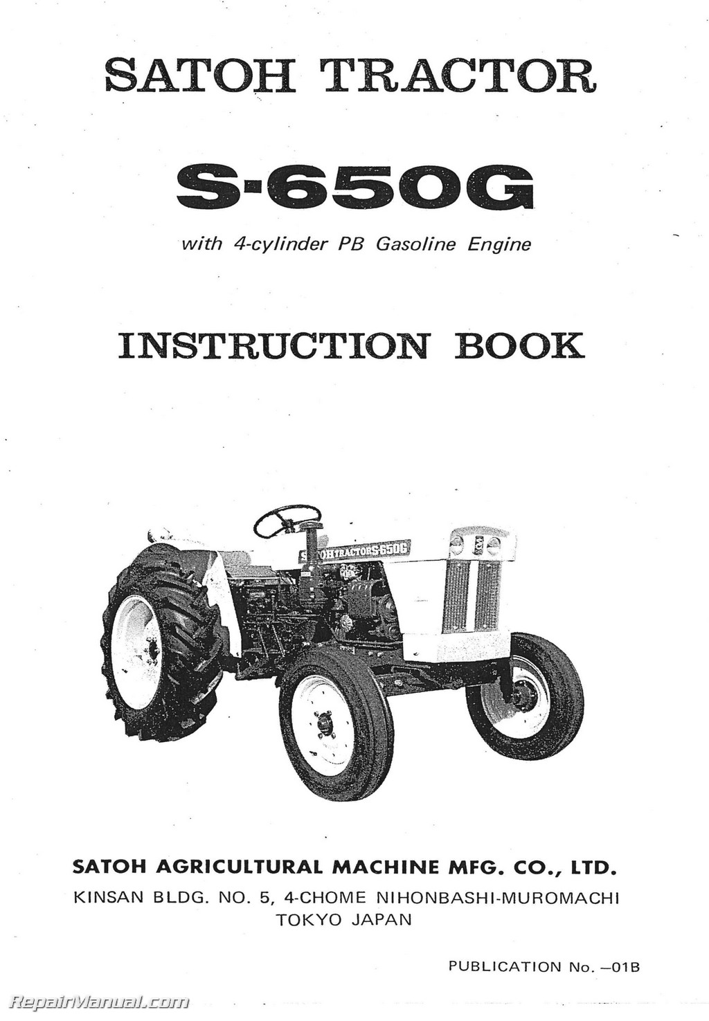 Satoh Tractor 4 Cylinder Engine Diagram Solution Of Your Wiring Inline S650g Operators Manual Rh Repairmanual Com 24 Liter