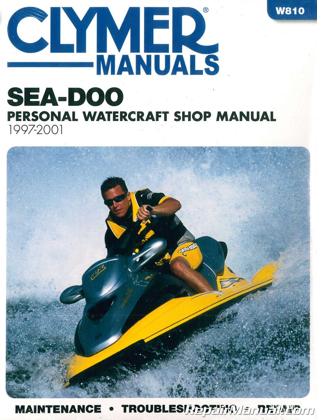 sea doo water vehicles 1997 2001 clymer pwc shop manual rh repairmanual com  1996 seadoo spi service manual 1996 seadoo xp 800 service manual