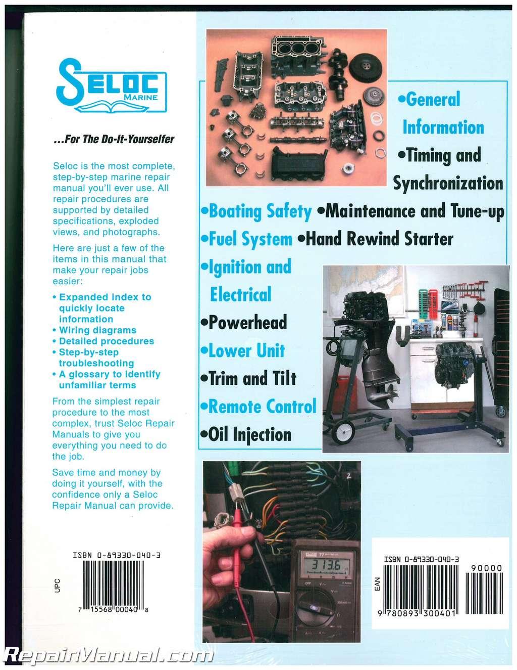 Seloc 1992 1996 Johnson Evinrude 4 6 8 Cylinder 2 Stroke 96 Wiring Diagram