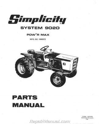 Simplicity Power Max 9020 9020 Allis Chalmers 720 Lawn Garden