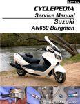 Suzuki AN650 Burgman Scooter Cyclepedia Printed Service Manual