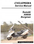 Suzuki AN650 Burgman Scooter Cyclepedia Printed Service Manual_Page_1
