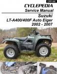 Suzuki Auto Shifter Eiger LT-A400 400F ATV Printed Service Manual
