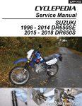 Suzuki DR650SE Motorcycle Service Manual Printed Cyclepedia_Page_01