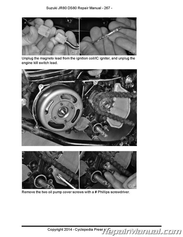 suzuki ds80 jr80 motorcycle cyclepedia printed service manual ds80 wiring diagram  repair manuals online
