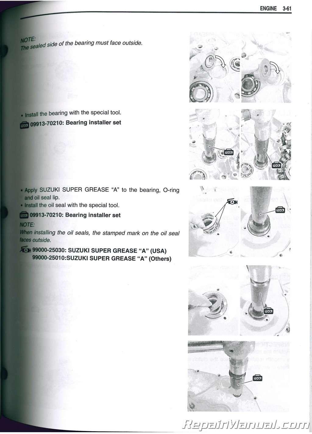 Suzuki Eiger 400 Manual Official Factory Repair Information