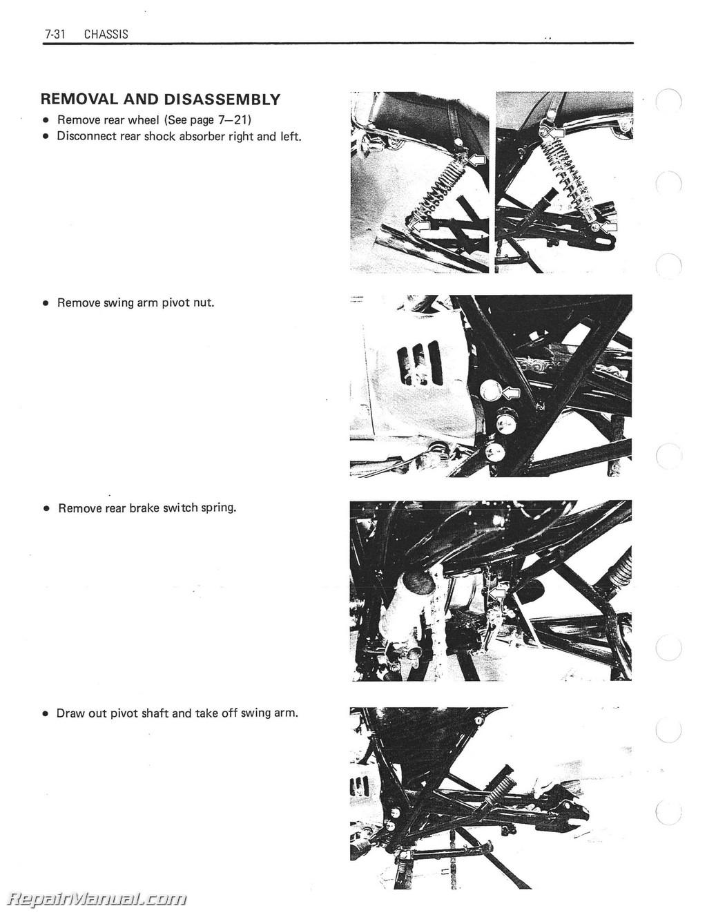 1983-1988 Suzuki GN250 Motorcycle Service Manual