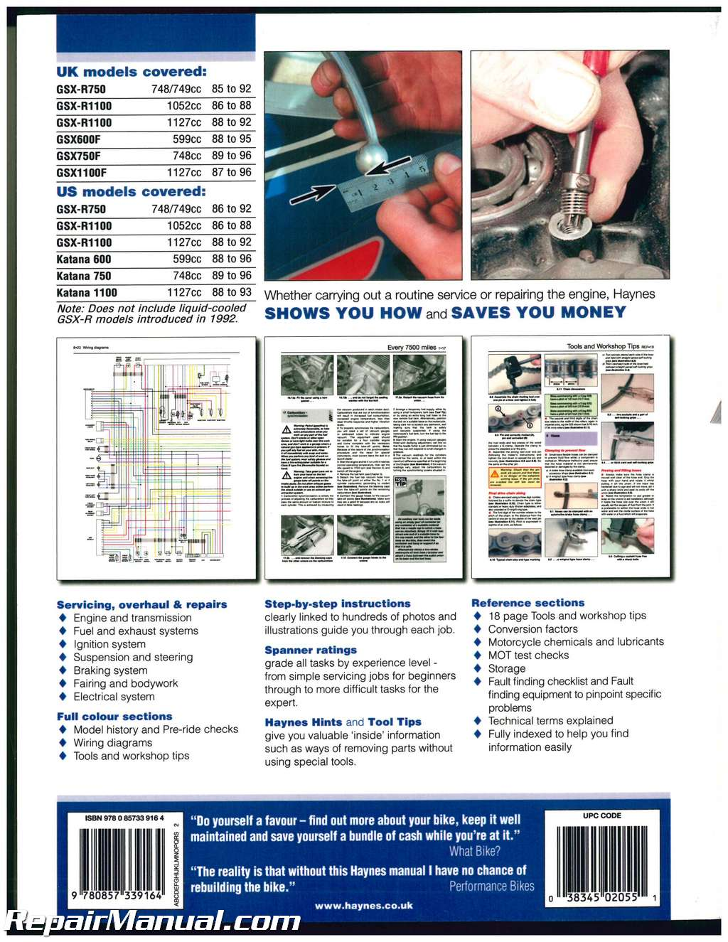 suzuki gsx r1100 1989 1992 service manual