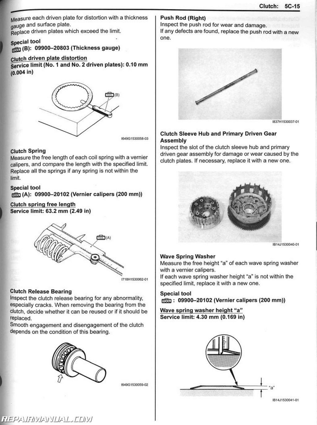 2011 2018 Suzuki Gsx R750 Motorcycle Repair Manual