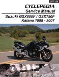 Suzuki GSX600F GSX750F Katana Cyclepedia Printed Motorcycle Service Manual 1998-2007_Page_1