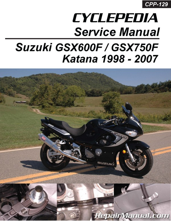 Suzuki GSX600F GSX750F Katana Cyclepedia Printed Motorcycle Service on