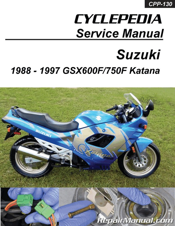 Suzuki Gsx600f Gsx750f Katana Cyclepedia Printed Service Manual 1988