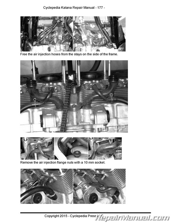 Suzuki Gsx600f Gsx750f Katana Cyclepedia Printed Service