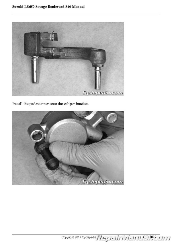 suzuki ls650 savage 1996 repair service manual