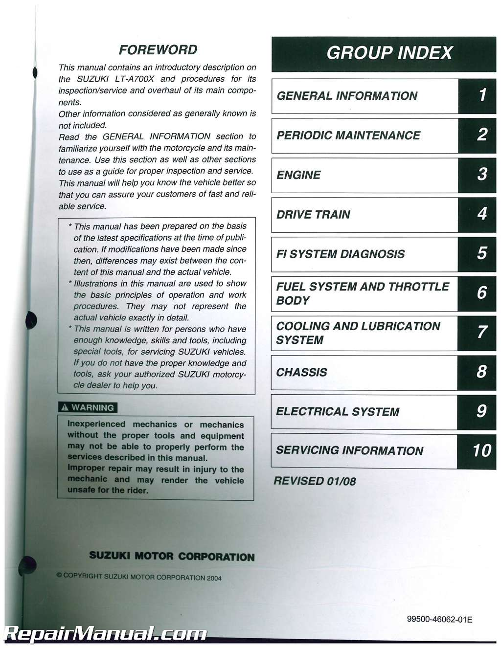 Suzuki King Quad300 repair manual