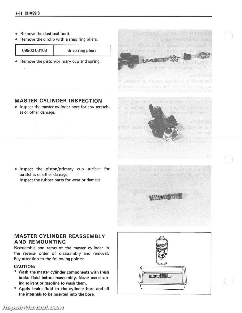 Lt 250r Wiring Diagram And Schematics Suzuki Lt250r 1987 1992 Quad Racer Atv Service Manual Residential Electrical Diagrams 89