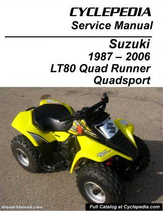 Suzuki LT80 Quadsport, Kawasaki KFX80 Cyclepedia Printed Service Manual